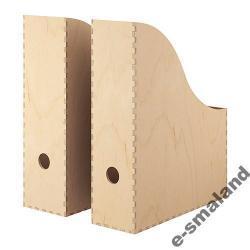 SEGREGATORY BIUROWE: IKEA KNUFF - DREWNIANE 2szt