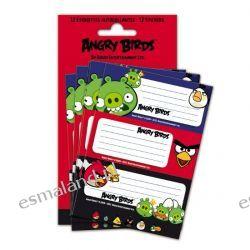 Angry Birds Naklejki na zeszyty 12szt kpl Oryginał