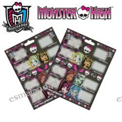 Monster High Naklejki na zeszyty 38szt kpl