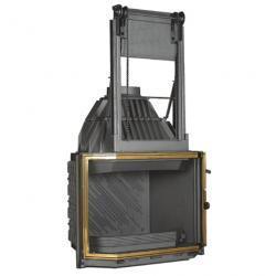 Wkład kominkowy Totalvision szyba pryzmatyczna, drzwi podnoszone, mosiężne wykończenie ref. 820T/075