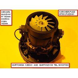 SILNIK,motor ODKURZACZA Makita, Bosch, KARCHER: NT27/1, NT48/1 , SOTECO Dakota 430HP - WYSOKOSC 142MM ,średnica czapy-142mm - UNIWERSALNY JEDOTURBINOWY-rozne silniki