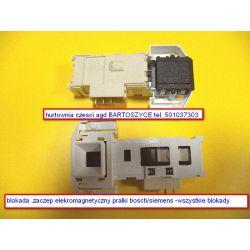 blokada zamka /elektromagnetyczne rygle zamka pralki BOSCH /SIEMENS ,CONSTRUCTA -MODELE PRALEK CM,CWF,WAA,WAB CLASIXX 6--ROZNE BLOKADY