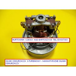 Silnik,TURBINA Ametek  odkurzacza centralnego 1400W 3 turbinowy wysokosc 208mm,srednica turbin  143mm -rozne silniki Pralki