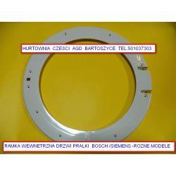 DRZWI,RAMKI Pralki BOSCH /SIEMENS wewnetrzne- pasuje do roznych modeli pralek WAE,WLX,WFL,WFC,WM,WS,WFO,MAXX7,WFX,SIWAMAT,WXL -patrz wykaz- rożne drzwi ,RAMKI,szyby Części zamienne
