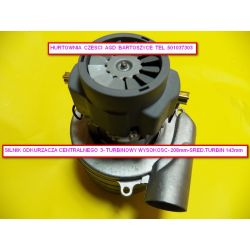Silnik,TURBINA odkurzcza Nilfisk prochem Agnello Ametek 1400W- 3 turbinowy wysokosc 210mm,srednica turbin  143mm -rozne silniki