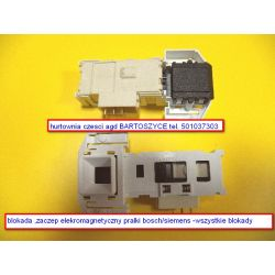 blokada zamka /elektromagnetyczne rygle zamka pralki BOSCH /SIEMENS ,CONSTRUCTA -MODELE PRALEK CM,CWF,WAA,WAB CLASIXX 6--ROZNE BLOKADY Części zamienne