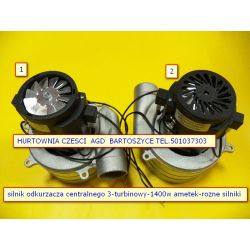 Silnik,TURBINA Nilfisk- Ametek  odkurzacza  1400W 3 turbinowy wysokosc 208mm,srednica turbin  143mm -rozne silniki AGD drobne