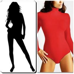 Body wysmuklające półgolf *Czerwone *r XL