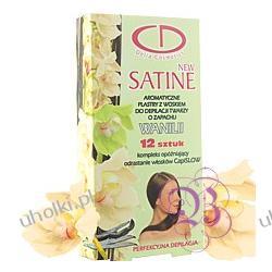 Delia Satine NEW Line, Plastry z woskiem do depilacji twarzy o zapachu wanilii, 12 szt