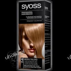 SYOSS Professional Performance, Krem trwale koloryzujący 7-6 Średni blond 1 op.