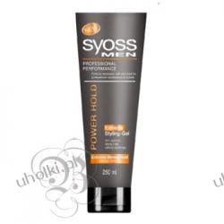 SYOSS Men Power Hold Extreme, Żel do włosów dla awangardowych mężczyzn, 250 ml