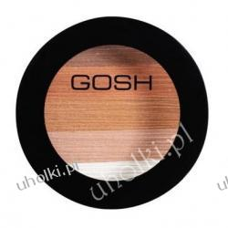 GOSH Bronzing Schimmer Powder, Puder brązujący, róż i cienie w jednym, ciepła karnacja 9 g