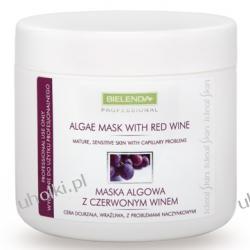 BIELENDA Ideal Skin, Maska algowa z czerwonym winem, cera naczynkowa, wrażliwa, 190g