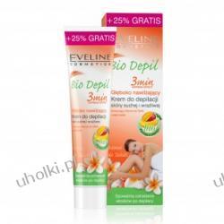 EVELINE Bio Depil, Głęboko nawilżający krem do depilacji skóry wrażliwej i suchej nóg, pach i bikini, 125 ml