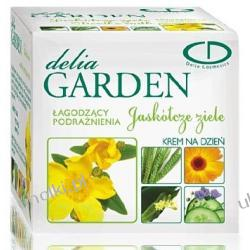 DELIA Garden, Jaskółcze ziele, Krem łagodzący podrażnienia i rumień na dzień, cera wrażliwa w każdym wieku, 50 ml