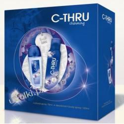 C-THRU Charming, Dezodorant damski spray i dezodorant perfumowany, zestaw na prezent