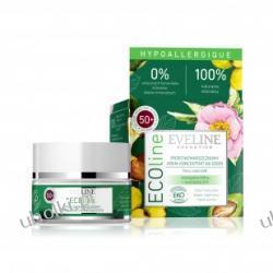 EVELINE ECOline, Przeciwzmarszczkowy krem koncentrat na dzień do cery wrażliwej i alergicznej 50+, 50 ml