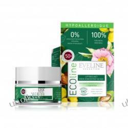 EVELINE ECOline, Liftingujący krem koncentrat na noc do cery wrażliwej i alergicznej 50+, 50 ml
