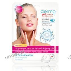 DermoPharma+, Maska - kompres 4D do oczyszczania twarzy i redukcji trądziku, 1 szt