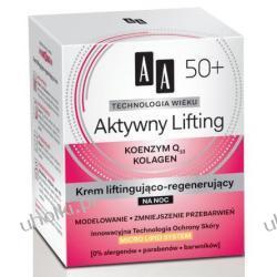 AA Technologia Wieku 50+, Aktywny Lifting Krem liftingująco - regenerujący na noc, 50 ml