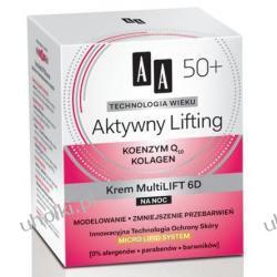 AA Technologia Wieku 50+, Aktywny Lifting Krem Mulitilift 6D na noc, 50 ml