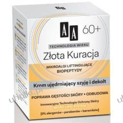 AA Technologia Wieku 60+, Złota Kuracja Krem ujędrniający szyję i dekolt, 50 ml
