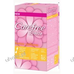 CAREFREE Breeze Lemon Verbena, Wkładki higieniczne o zapachu trawy cytrynowej, 60 szt