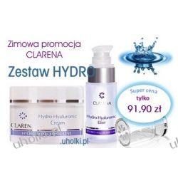 CLARENA Hydro Hyaluronic, Limitowany zestaw kosmetyków nawilżajacych do cery suchej, odwodnionej