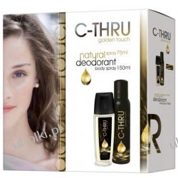 C-THRU Golden Touch Zestaw, Dezodorant perfumowany + dezodorant spray