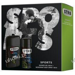 STR8 Sports Zestaw, Męski, zapachowy żel pod prysznic + dezodorant spray