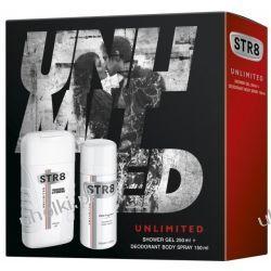 STR8 Unlimited Zestaw, Męski, zapachowy żel pod prysznic + dezodorant spray