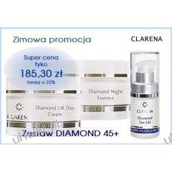 CLARENA Diamond, Liftujący zestaw kosmetyków do twarzy i pod oczy, cera dojrzała 45+