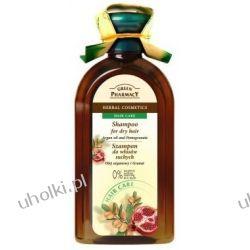 GREEN PHARMACY, Szampon z olejem arganowy i granatem, włosy suche, 350 ml