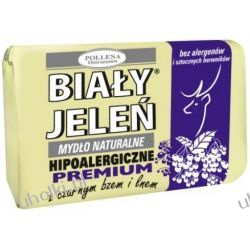 BIAŁY JELEŃ Premium, Naturalne mydło w kostce z czarnym bzem i lnem, 100 g