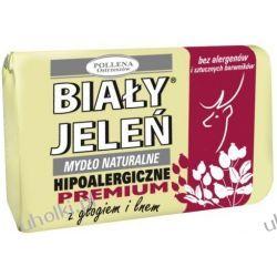 BIAŁY JELEŃ Premium, Naturalne mydło w kostce z głogiem i lnem, 100 g