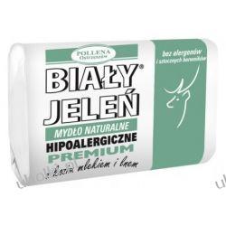 BIAŁY JELEŃ Premium, Naturalne mydło w kostce z kozim mlekiem i lnem, 100 g