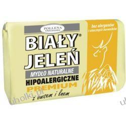 BIAŁY JELEŃ Premium, Naturalne mydło w kostce z owsem i lnem, 100 g
