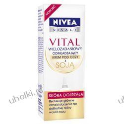 NIVEA Vital 55+, Wielozadaniowy krem odmładzający pod oczy z soją, 15 ml
