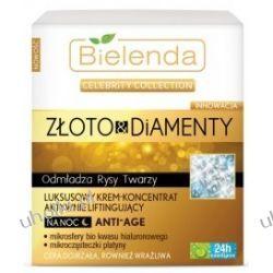 BIELENDA Złoto & Diamenty, Luksusowy krem - koncentrat aktywnie liftingujący na noc Anti-Age, 50 ml