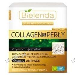 BIELENDA Collagen & Perły, Luksusowy krem - koncentrat aktywnie wypełniający zmarszczki na noc Anti-Age, 50 ml