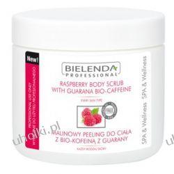 BIELENDA Ideal Skin, Malinowy peeling do ciała z bio-kofeiną z guarany, 550g