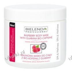 BIELENDA Ideal Skin, Malinowa maska do ciała z bio-kofeiną z guarany, 600g