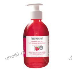 BIELENDA Ideal Skin, Malinowy olejek do kąpieli z bio-kofeiną z guarany, 300 ml