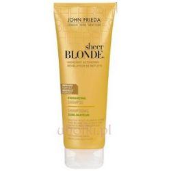 JOHN FRIEDA Sheer Blonde, Highlight Activating Shampoo, Szampon rozświetlający z miodem do włosów ciemny blond 250 ml...