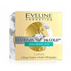 EVELINE Diamonds & 24k Gold, Luksusowy krem liftingujący do twarzy, szyi i dekoltu, cera dojrzała, 50 ml...