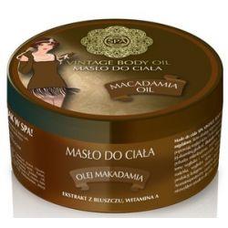 SPA Vintage Body Oil, Relaksujące masło do ciała z olejem makadamia Macadamia Oil, 200 ml...