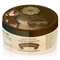 SPA Vintage Body Oil, Peeling cukrowo - orzechowy do ciała z olejem makadamia Macadamia Oil, 200 ml...