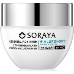 SORAYA Hialuronowy Mikrozastrzyk, Regenerujący krem z transdermalnym kwasem hialuronowym na dzień i na noc 40+, 50 ml...