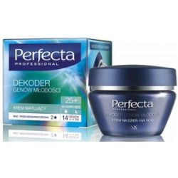 DAX Perfecta Dekoder Genów Młodości 25+, Przeciwzmarszczkowy krem matujący na dzień i na noc, 50 ml...