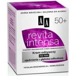 AA Revita Intensa 50+, Krem odżywczy na noc ujędrnienie + głęboka odbudowa, 50 ml...